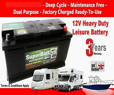12V 120AH (110AH) SB LH120 HD Ultra Deep Cycle Leisure Battery Caravan Motorhome
