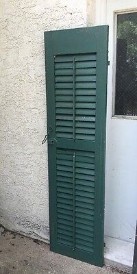 Vintage WOOD PANEL wooden cabinet door shutter architectural salvage Tall 76""