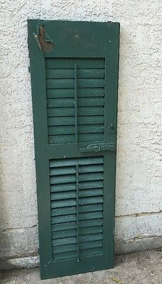 Vintage 1 PANEL wooden Shutter cabinet door architectural salvage 56""