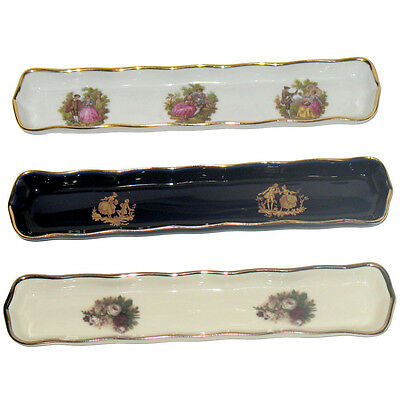 Limoges porcelain set of 4 mint tray pencil dish collectable fine china