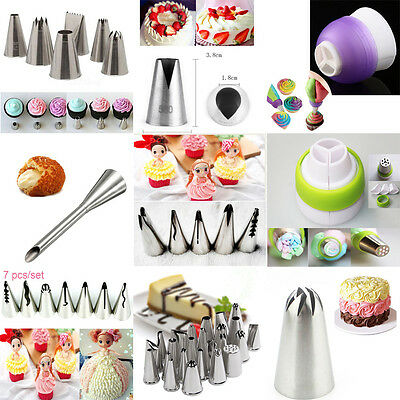 9 styles Russian Cake Icing Piping Nozzles Tips Converter Cupcake Sugarcraft qin