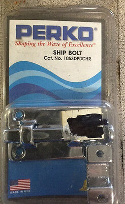 "1 ONE NEW Perko Boat Barrell Bolt #0947DP3CHR 5.25/"" x 1 7//16/"" Chrome"