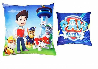 Paw Patrol 'rescue' 2 Designs In 1 Reversible Cushion 100% Official New Kids
