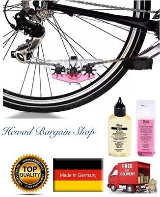 Bicycle Chain Cleaning Kit - Chain Cleaner & Lubricant Oil (German Made)