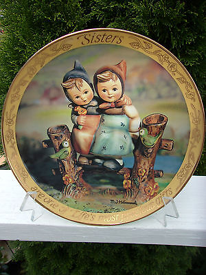 """M. I. Hummel - """"Sisters"""" Limited Edition Collector's Plate"""