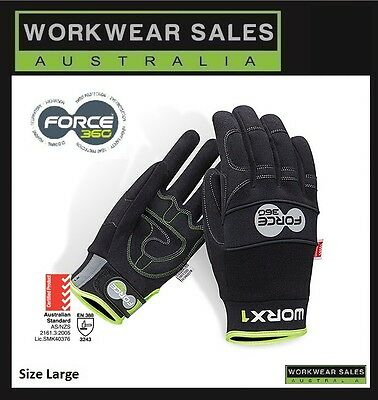 Force 360 Worx1 Work Gloves PPE Aus Standard Size Large