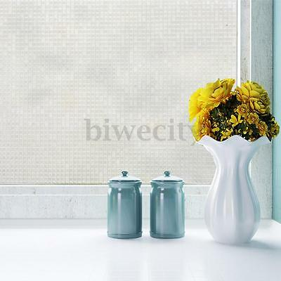 Privacy Frosted Static Glass Mosaic Window Film For Home Bedroom Bathroom Decor