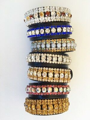 Riders Wrist Band Bling Crystal Competition Bracelet Crystal and Pearl Bracelet