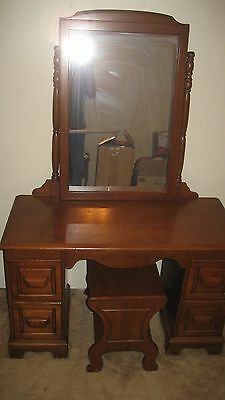 Matching 4 Draw  Dresser and Vantiy Desk Table Mirror w/Stool