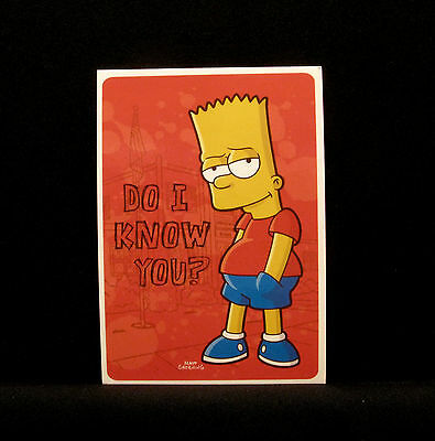 "The Simpsons New  Postcard  Uk Import  ""bart"""