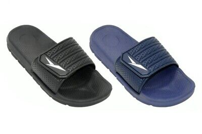 Men's Slip On Sport Slide Sandals Adjustable Flip Flops Slippers Shoes Size 7-13