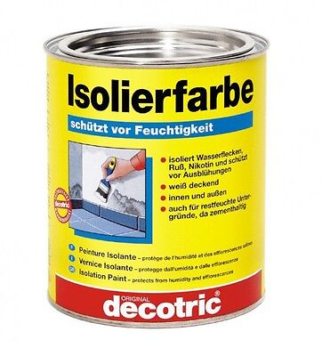 (22,85€/1l) decotric Isolierfarbe 0,75 Liter