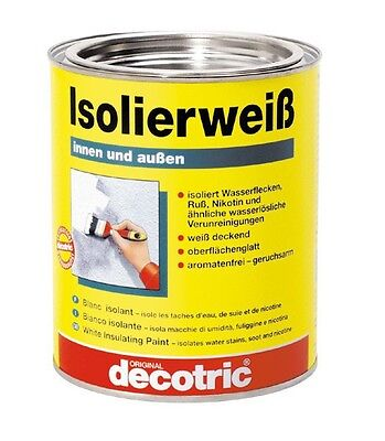 (25,30€/1l) decotric Isolierweiß 0,75 Liter