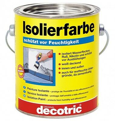 (15,93€/1l) decotric Isolierfarbe 2 Liter