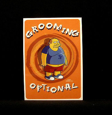 "The Simpsons New  Postcard  Uk Import  ""grooming Optional"""