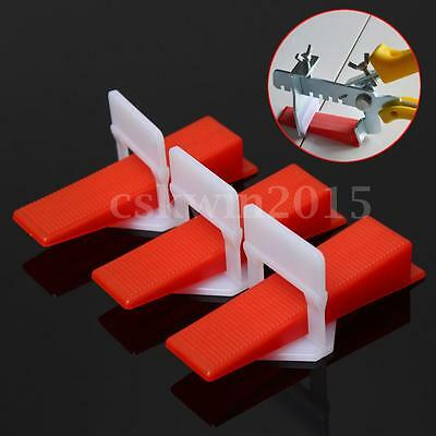 200pcs Tile Leveling System Wedges and Clips Spacer Flooring Plastic Tiling Tool