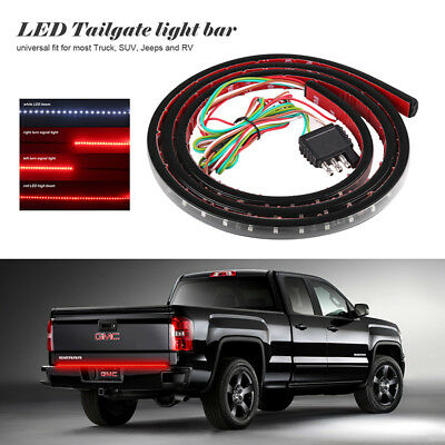 "49"" Red&white LED Truck Tailgate Tail Light Bar Strip Turn Signal Brake Reverse"