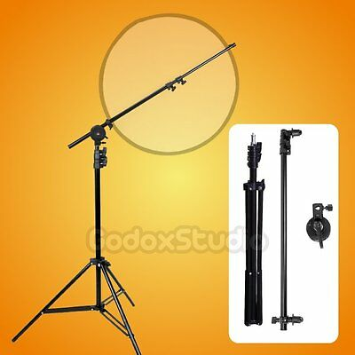 Studio 65-176cm Reflector Holder Boom Arm with 2m Light Stand for Photo Video UK