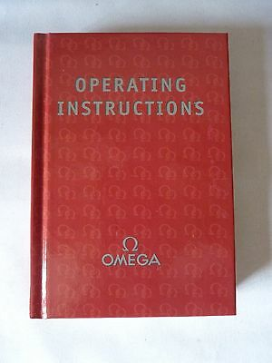 Omega Watch Operating Manual Instructions Red Book I