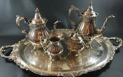 "Wallace Silverplate ""Baroque"" Tea / Coffee Set 5 Piece Set"