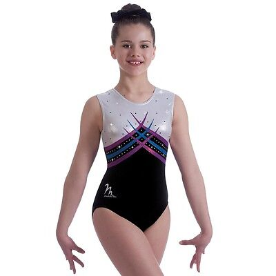 "Milano Pro Sport Gymnastic leotard 'Maleficent Bodice 170631'  Sizes 26""-36"" New"