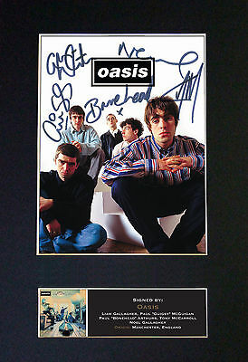 OASIS No2 Signed Mounted Autograph Photo Prints A4 491