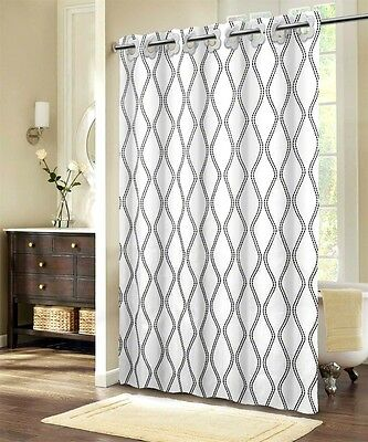 LUXURY Bathroom Shower Curtain FABRIC 100% Polyester 180x200 WAVE DESING