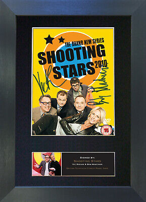 SHOOTING STARS vic and bob Signed Mounted Autograph Photo Prints A4 490