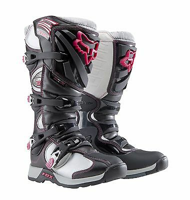New Fox Racing Black Pink Womens Adult Comp 5 Motocross Mx Atv Boots Riding