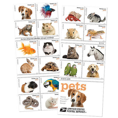USPS New Pets Booklet of 20