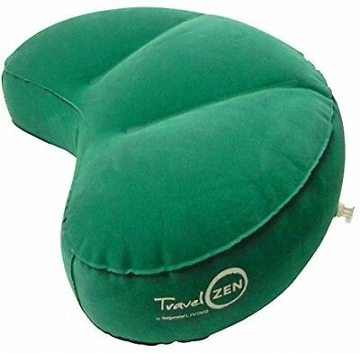 Travel ZEN Inflatable Crescent Meditation Cushion By Invigorated Living, Yoga