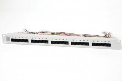 Patchpanel 25xRJ45 8/4 1HE ISDN RAL7035 Cat. 3 LSA