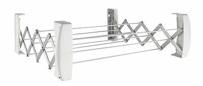 Leifheit Clips Dryer 60 Wall Mounted Washing Line Indoor Outdoor Clothes Airer