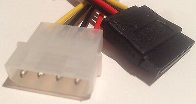 NEW 4 Pin IDE Molex to SATA Power Cable Adapter