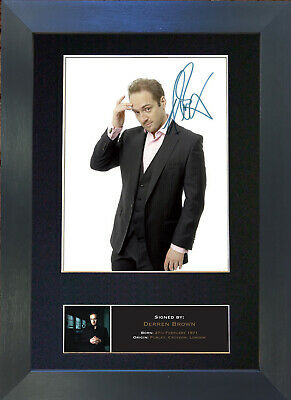 DERREN BROWN Signed Mounted Autograph Photo Prints A4 482