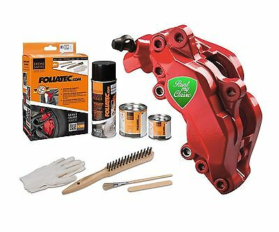 Foliatec Brake Caliper Paint Lacquer Kit Rosso Red Gloss AUDI A4 CABRIOLET