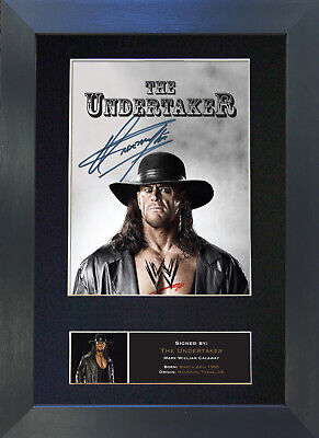 THE UNDERTAKER WWE Signed Mounted Autograph Photo Prints A4 481