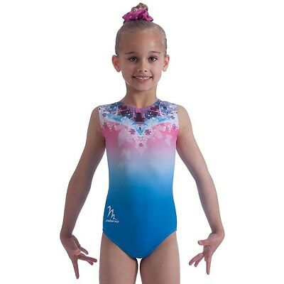"Milano Pro Sport Gymnastic leotard Blue Fade Bodice170656 Sizes 22""-30""  NEW"