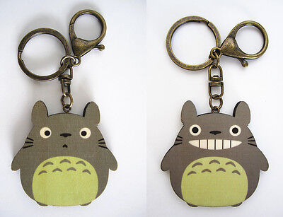 Ghibli My Neighbour Totoro Cute Light Wood Keyring Key Ring Gift Souvenir Anime