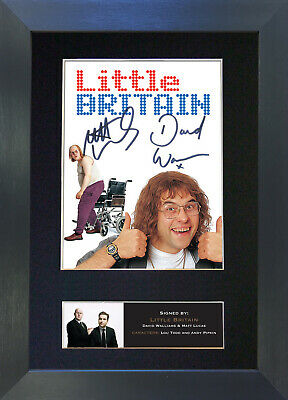 LITTLE BRITAIN Signed Mounted Autograph Photo Prints A4 479