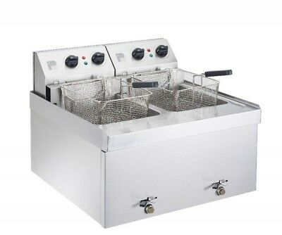 Parry NPDF3 Double Table Top 3kW Electric Fryer (Boxed New)