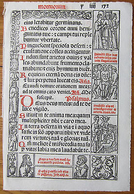 Leaf Book of Hours Woodcuts Venice (172) - 1518