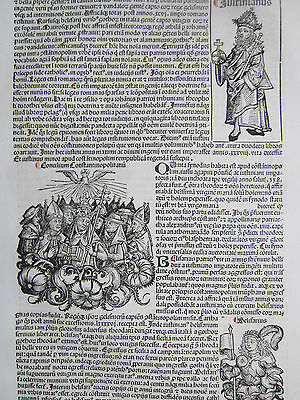 Incunable Leaf Schedel Liber Chronicorum Council Constantinople - 1493