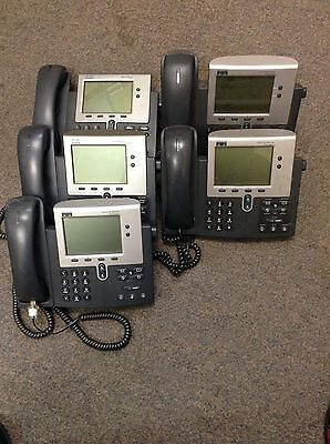 Lot of 5 Cisco 7940 Series IP Phones