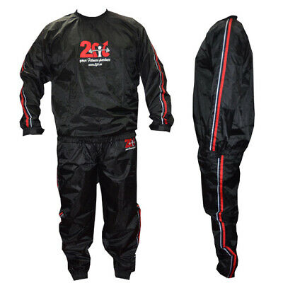2Fit HeavyDuty Sauna Sweat Suit Exercis Gym TrackSuit  WeightLoss Boxing Workout