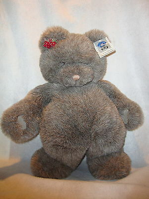"""Gund Collectors Classic Large 24"""" Grey Gray Teddy Bear STERLING Style 2073 Korea"""