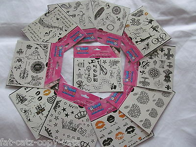 5x mixed sheets (50+ tattoos) quality arty girls boys temporary tattoos UKSeller