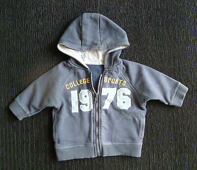 Baby clothes BOY 3-6m navy blue zip soft sweatshirt-style hood jacket SEE SHOP!