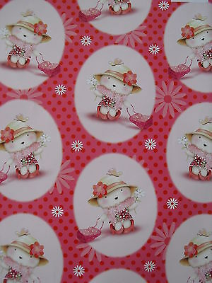 5 Sheets Of Good Quality Thick Glossy Bear Wrapping Paper