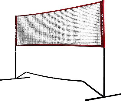 Victor Premium Net Badminton & Tennis 3m Wide with Adjustable Height Red FAST